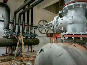 集水器闸阀更换